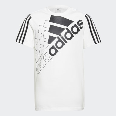 Youth 8-16 Years Sportswear White adidas Essentials Logo T-Shirt