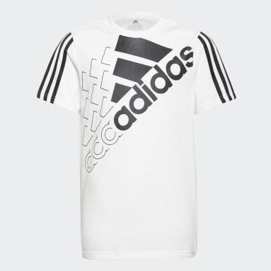 T-shirt adidas Essentials Logo Bianco Ragazzo Sportswear