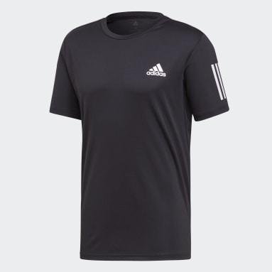 Camiseta Club 3 Rayas Negro Hombre Tennis