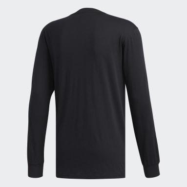 Men Essentials Black 3-Stripes Tee