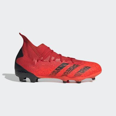 Calzado de Fútbol Predator Freak.3 Terreno Firme Rojo Hombre Fútbol