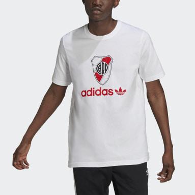Polera River Plate 85 Blanco Hombre Originals