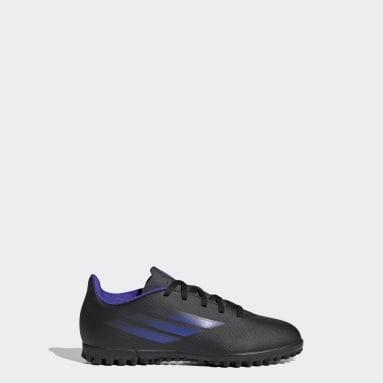 Children Soccer Black X Speedflow.4 Turf Shoes
