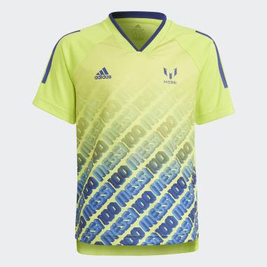 Camiseta AEROREADY Messi Football-Inspired Iconic Amarillo Niño Gimnasio Y Entrenamiento