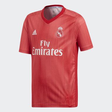 Camiseta tercera equipación Real Madrid Rojo Niño Fútbol