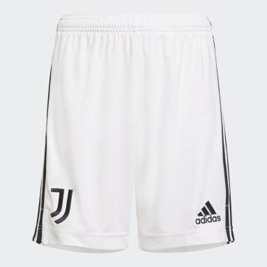 Kinder Fußball Juventus Turin 21/22 Heimshorts Weiß