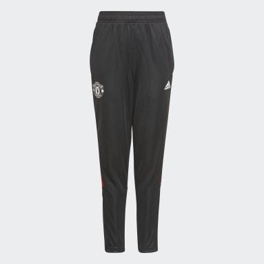 Barn Fotboll Svart Manchester United Tiro Training Pants