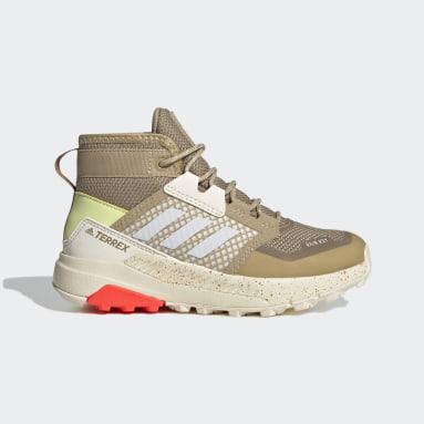 Terrex Trailmaker Mid RAIN.RDY Hiking Shoes Beżowy