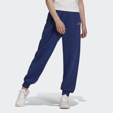 Pantalón Essentials Warm Golden Logo Azul Mujer Sportswear