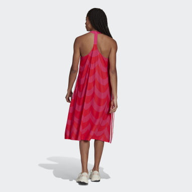 Frauen Originals Marimekko Midi Tanktop-Kleid Rot