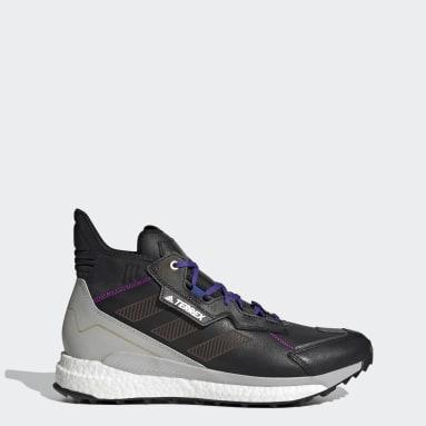 Men's TERREX Black Terrex Free Hyperblue Mid Hiking Shoes