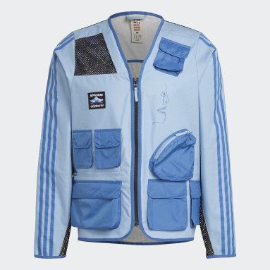 Herr Originals Blå FA Fishing Jacket