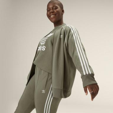 Frauen Originals Primeblue SST Originals Jacke – Große Größen Grün