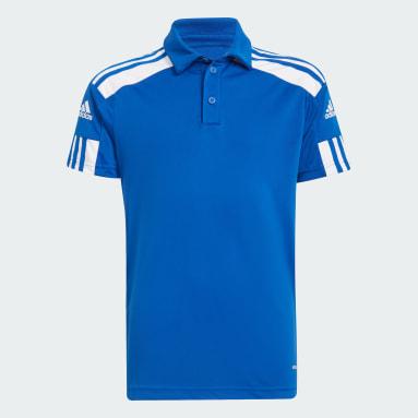 Kids Football Blue Squadra 21 Polo Shirt