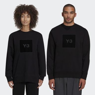 Y-3 Black Y-3 Square Logo Crew Sweatshirt