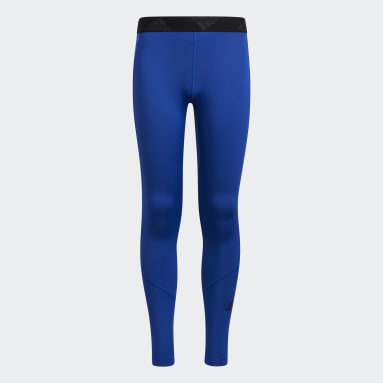 Youth Basketball Blue Techfit Tights