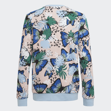 Sweat-shirt HER Studio London Animal Flower Print Crew Rose Filles Originals