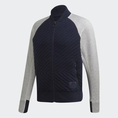 Men Sportswear Blue VRCT Primeknit Hybrid Jacket