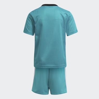 Mini Kit Third Real Madrid 21/22 Turquoise Enfants Football