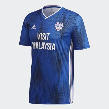 Herr Fotboll Blå Cardiff City FC Home Jersey