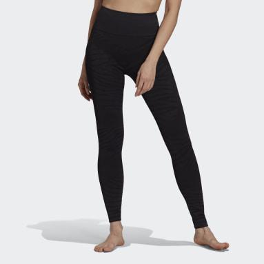 черный Бесшовные леггинсы для йоги adidas by Stella McCartney