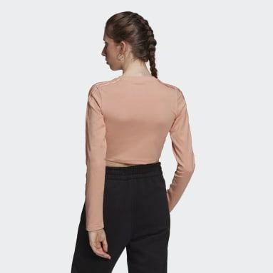 T-shirt LOUNGEWEAR Cropped Long Sleeve Rose Femmes Originals