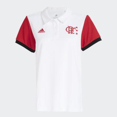 Camisa Polo CR Flamengo Branco Mulher Futebol