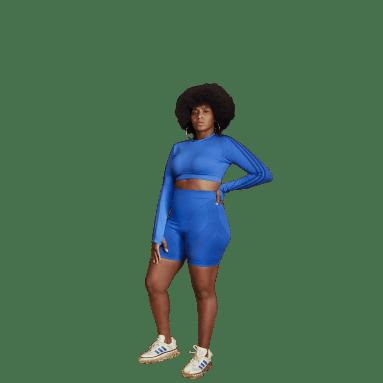 Women Originals Blue Short Tights