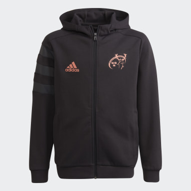 Boys Rugby Black MUN HOODY Y
