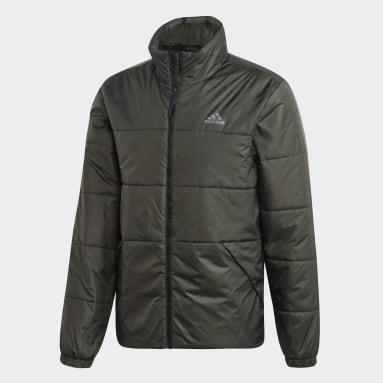 Mænd Overtøj Med Gadestil Grå BSC 3-Stripes Insulated Winter jakke