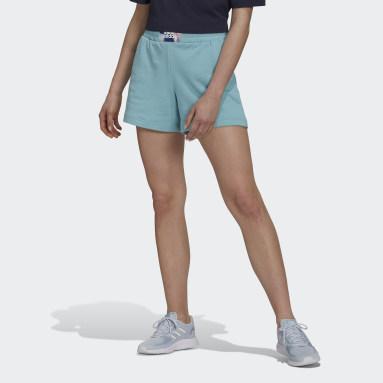 Women's Essentials Green adidas x Zoe Saldana Soft Knit Shorts