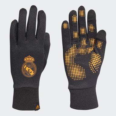 Fußball Real Madrid AEROREADY Feldspieler-Handschuhe Schwarz