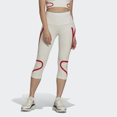 белый Леггинсы для бега adidas by Stella McCartney TruePace HEAT.RDY 3/4