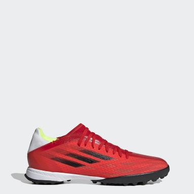 Zapatilla de fútbol X Speedflow.3 moqueta Rojo Fútbol