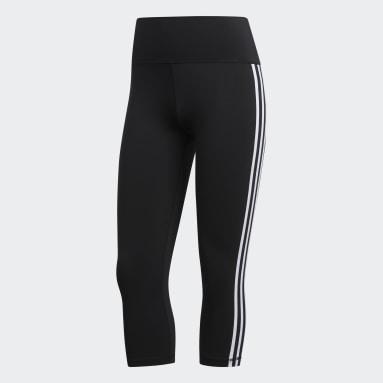 Women HIIT Black Believe This 2.0 3-Stripes 3/4 Leggings