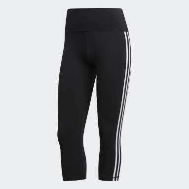 Tight 3/4 Believe This 2.0 3-Stripes Nero Donna HIIT