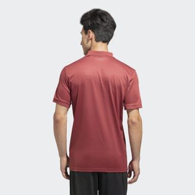 Men Tennis Red Club Solid Polo Shirt