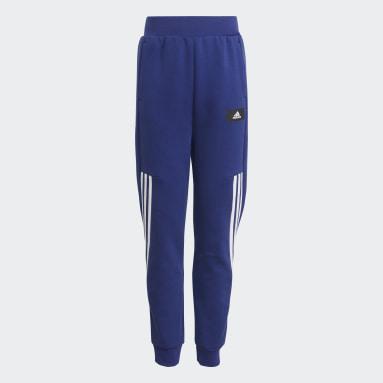 Boys Sportswear Blue Future Icons 3-Stripes Tapered-Leg Pants