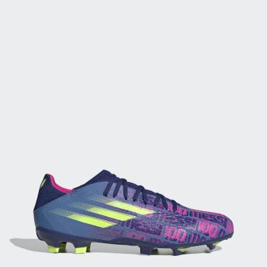 Calzado de Fútbol X Speedflow Messi.3 Terreno Firme Azul Fútbol