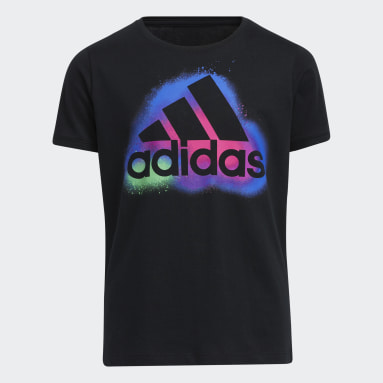 Youth Training Black Graphic Vent Tee