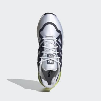 Men Originals White ZX 2K Boost Futureshell Shoes