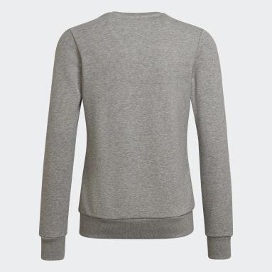 Sweat-shirt Linear Gris Filles Sportswear