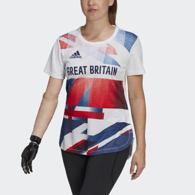 Women Gym & Training White Team GB HEAT.RDY Tee