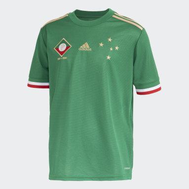 Camisa 3 Cruzeiro 21/22 Juvenil Verde Meninos Futebol