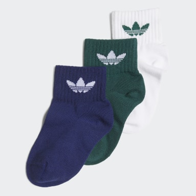 Çocuklar Originals Beyaz Bilek Boy Çorap - 3 Çift