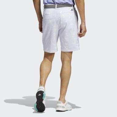 ผู้ชาย กอล์ฟ สีม่วง กางเกงขาสั้นพิมพ์ลาย Ultimate365 Primegreen