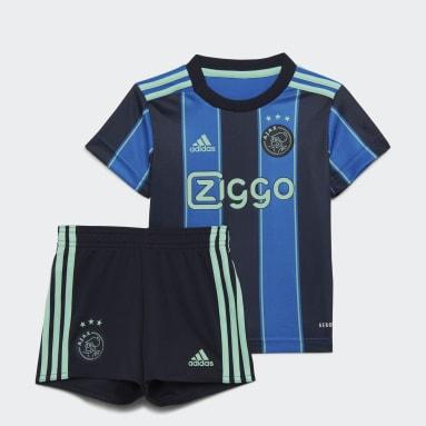 Kinder Fußball Ajax 21/22 Mini-Auswärtsausrüstung Blau