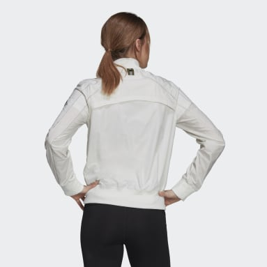 Kvinder Løb Hvid Primeblue Marathon Running jakke