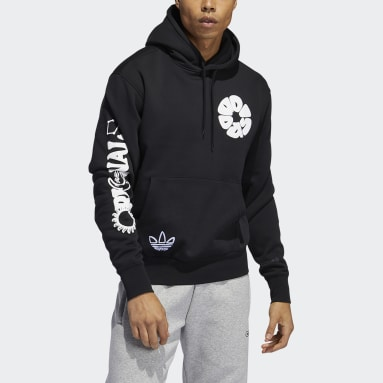 Sweat-shirt à capuche Circle adidas Noir Hommes Originals