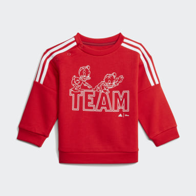 Kinder Sportswear adidas x Disney Huey Dewey Louie Jogginganzug Rot